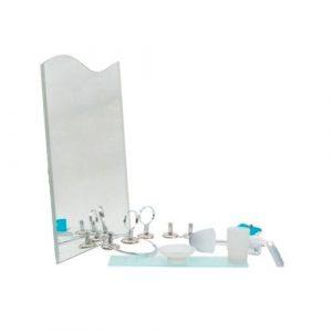 Ensemble de 7 pièces salle de bain avec miroir
